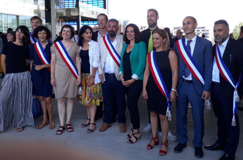 Les élu.es issues de la liste Choisir l'écologie pour Montpellier
